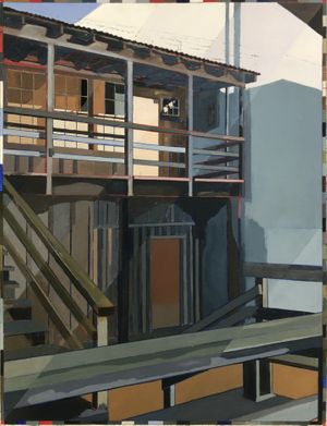 Doc's Lab, Cannery Row, oil on canvas 92 x 122 cm