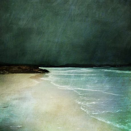 Cath Waters Camusdarach Beach Arisaig collage mixed media on paper 46 x 46 cm