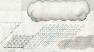 Paul Noble: 'Egg Carton Technique Actual', 2004. Pencil on paper. Courtesy the artist.