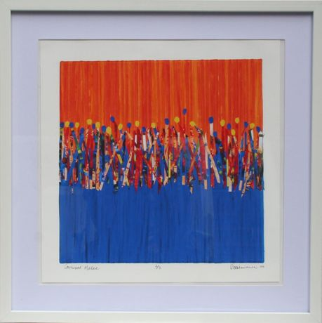 Carnival Sun Dance -by Dee Lawrence, Giclee Print - Framed 50x50cm