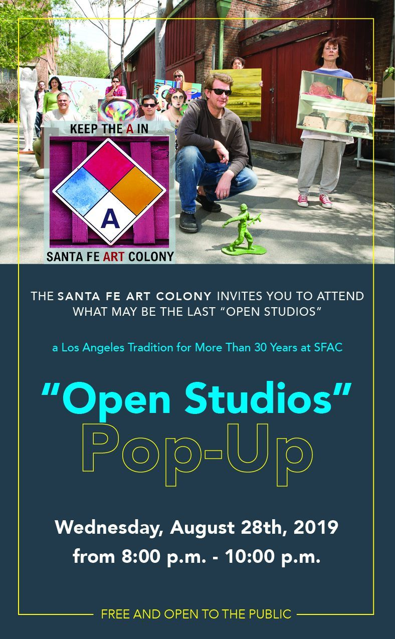 Pop Up Open Studios Event At Santa Fe Art Colony In Los Angeles