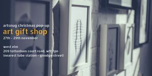 Pop-up art gift shop at West Elm