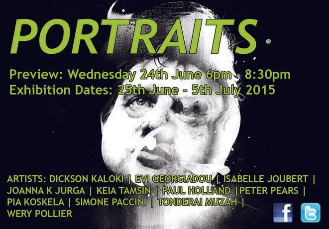 PORTRAITS Exhibition - 25th June - 5thJuly 2016