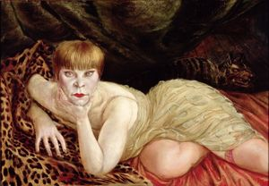 Otto Dix, Reclining Woman on a Leopard Skin 1927 © DACS 2017. Collection of the Herbert F. Johnson Museum of Art, Cornell University. Gift of Samuel A. Berger; 55.031.