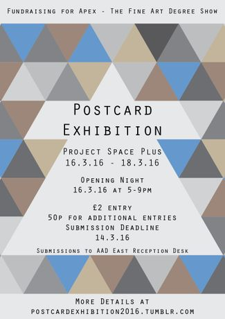 Postcard Exhibition Poster