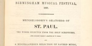 POSTPONED - Mendelssohn's oratorios in the W.T. Freemantle Collection