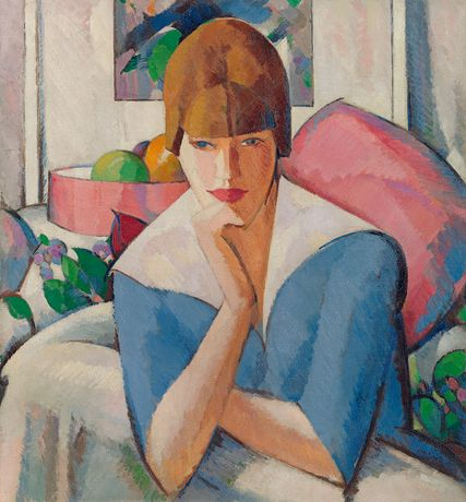 J.D.Fergusson, 'Poise', signed, inscribed and dated, oil on canvas, 76.2 x 71 cm. Copyright, Richard Green Gallery, London