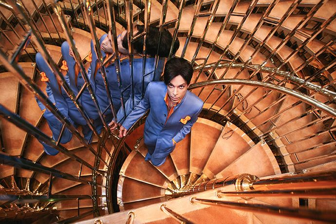 Prince on Staircase