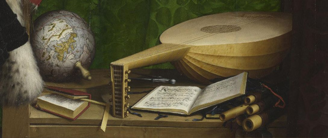 Detail from Hans Holbein the Younger, The Ambassadors, 1533
