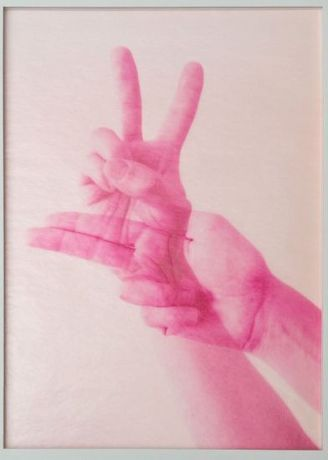 Huber/Huber, Peace and Gun, 2015, lithography, 51x36 cm, ed. 15