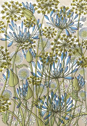 Walled Garden, Screenprint by Angie Lewin