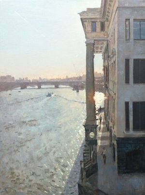 Evening sun from Southwark Bridge, Benjamin Hope, courtesy JP Art Gallery