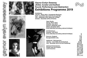 Programme 2019:  Gaynor Evelyn Sweeney (Artist, Curator and Author)