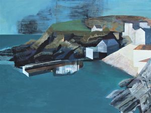 Euan Mcgregor 'Portloe' oil & acrylic on panel