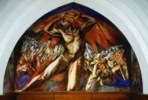 José Clemente Orozco, Prometheus , 1930. Fresco, 240 x 342 inches (610 x 869 cm), Pomona College, Claremont, CA. Photo Courtesy: Schenck & Schenck, Claremont, CA.