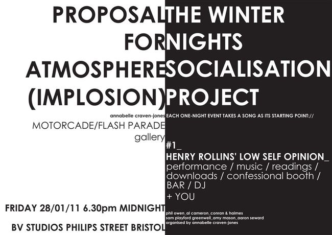 PROPOSAL FOR ATMOSPHERE (IMPLOSION)  + THE WINTER NIGHTS SOCIALISATION PROJECT: Image 0