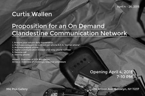 Proposition for an On Demand Clandestine Communication Network