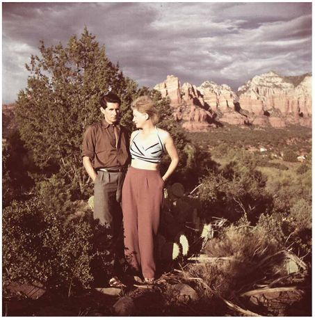 Roland Penrose and Lee Miller Sedona Arizona USA 1946