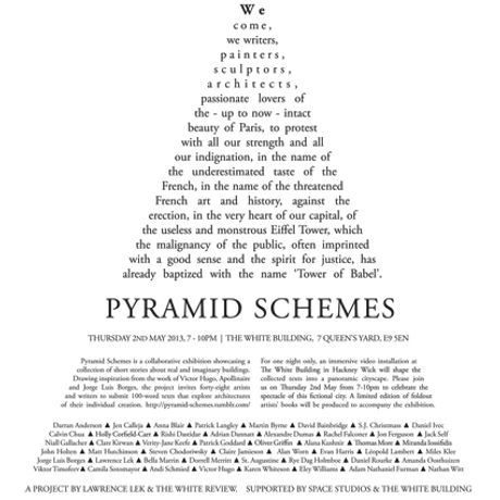 Pyramid Schemes: A Collaborative Exhibition: Image 0