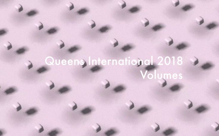 Queens International 2018: Volumes logo by Queens-based artist Ryan Kuo.