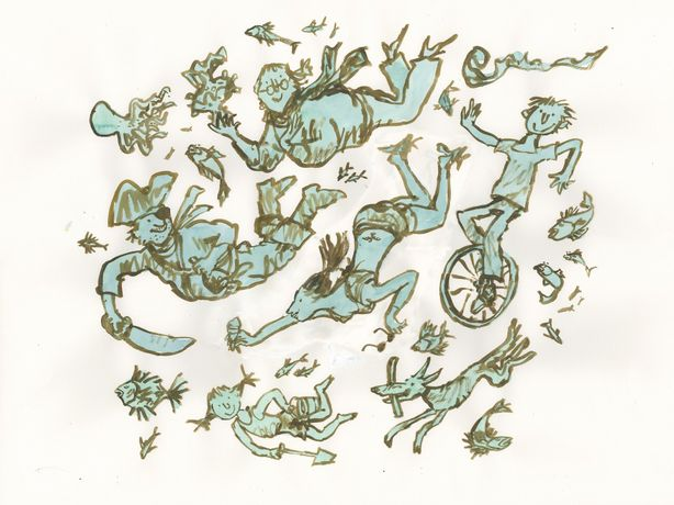 Quentin Blake, Life Under Water - A Hastings Celebration, 2015 copyright the artist