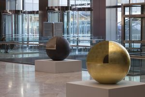 The first collection of monumental sculptural ceramics by Alexander Macdonald-Buchanan is now on display in the lobby of One Canada Square