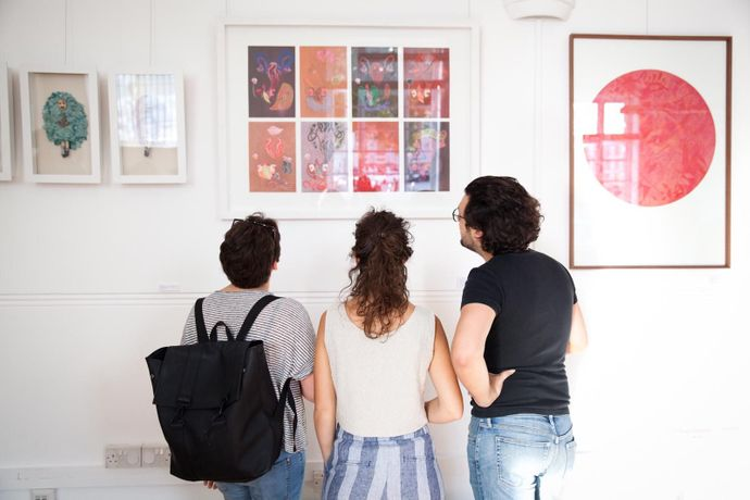 Exhibition view, opening night, Eva Palazuelos