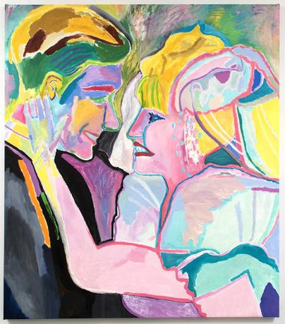 Jennifer Sullivan, Couple, oil on canvas, 2015