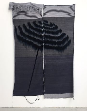 Mark Corfield-Moore, Parasol, 2018, Handwoven Cotton and Dye, 200 x 144 cm​