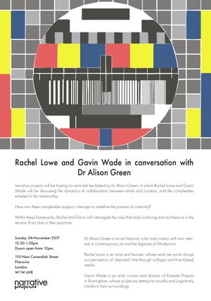 Rachel Lowe and Gavin Wade in conversation with Dr Alison Green