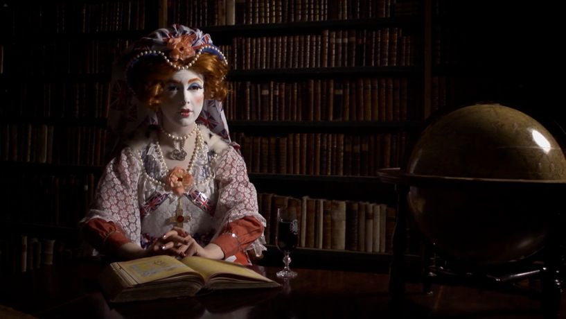 Rachel Maclean, Still from The Lion and The Unicorn, 2012, Digital Video, 12mins Commissioned by Edinburgh Printmakers for Year of Creative Scotland