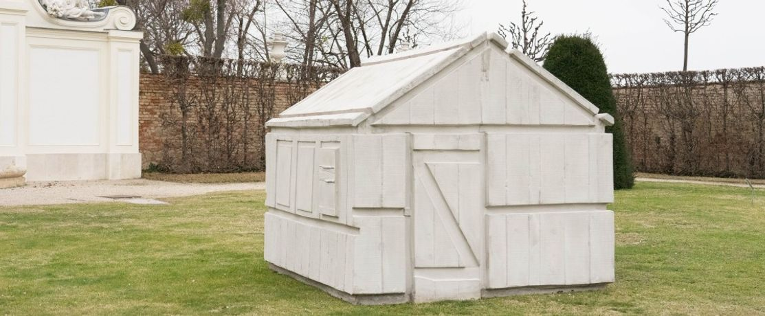 Rachel Whiteread. Chicken Shed, 2017. Courtesy the artist and Galleria and Lorcan O'Neill, Rome; Photo © Belvedere, Vienna