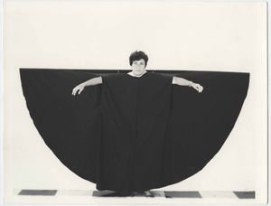 Martha Araújo (Brazilian, b. 1943), Hábito/Habitante (Habit/inhabitant), 1985. Documentation of performance: four black-and-white photographs. 6 7/8 × 8 7/8 in. (17.5 × 22.5 cm) each. Collection of Martha Araújo; courtesy of Galeria Jaqueline Martins. ©the artist.