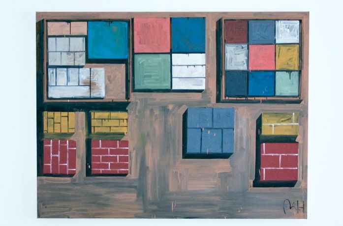 Floor Wall Oil on canvas 210x160cm 2015