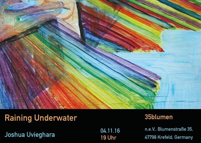 Raining Underwater - exhibition flyer