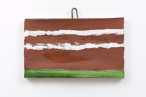 Flooded in Brown, 2012. Gesso and oil on canvas mounted on wooden panel. 5 7/8 x 8 7/16 inches (15 x 21.5 cm)