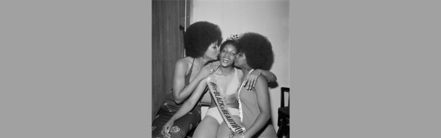 Miss Black and Beautiful Sybil McLean with fellow contestants , Hammersmith Palais, London, 1972. From the portfolio 'Black Beauty Pageants'.Courtesy of © Raphael Albert/Autograph ABP