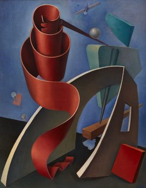 Reuben Mednikoff, January 21, 1936 (The Anatomy of Space). Oil on canvas. Private Collection. Photo: Luke Walker