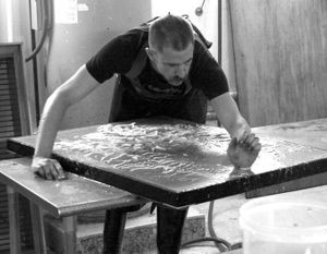 Jarrod Beck in his studio