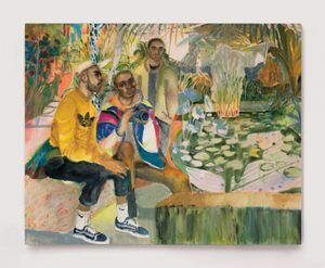Guys Hanging Out At The Lily Ponds, acrylic on canvas, 160 x 200 cm
