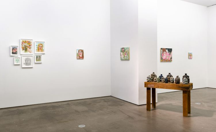 Installation view, In The Pines