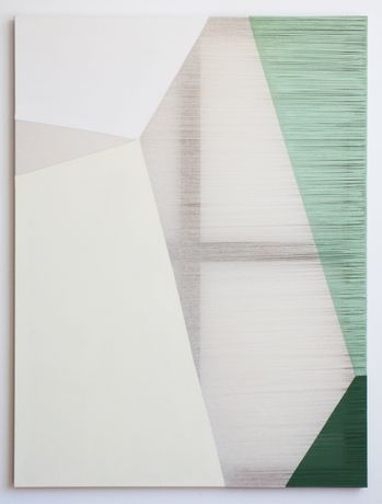 Rebecca Ward, clandestine, acrylic on stitched canvas, courtesy the artist and Ronchini Gallery