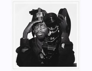 Spike Lee / Jesse Frohman / c. 1990 (printed 2014), Inkjet print on paper / National Portrait Gallery, Smithsonian Institution; gift of the artist, © Jesse Frohman