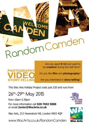 Story Telling, Film and Photography Half Term Project – Random Camden
