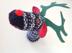 Reindeer Day sock puppets