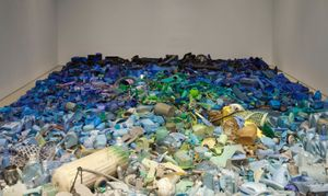 Tony Capellán, Mar Invadido / Invaded Sea , 2015. Found objects from the Caribbean Sea. Installation view: Poetics of Relation , Pérez Art Museum Miami, 2015. Collection of the Artist. Photo courtesy of Oriol Tarridas Photography.