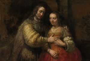 Rembrandt Van Rijn, Portrait Of A Couple As Isaac & Rebecca (also known as The Jewish Bride) c.1665 ® Rijksmuseum, Amsterdam