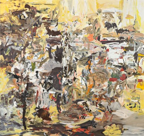 Cecily Brown, Tripe with Lemons, 2004, oil on canvas, 247 x 262 cm, © Cecily Brown, Photo: Mischa Nawrata, Vienna