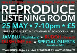 REProduce Listening Room Delhi at Usurp Art London