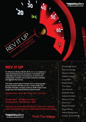 Rev it Up at Espacio Gallery 3-15 March 2015